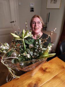 Rinie van Broekhoven in de bloemetjes gezet